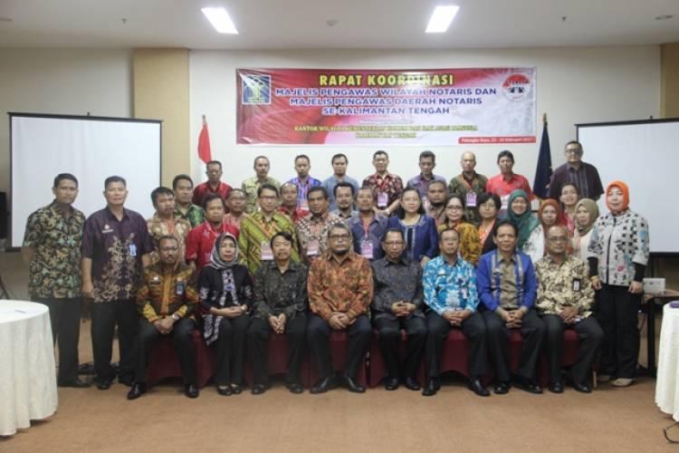 Rapat Koordinasi MPW Dan MPD Notaris Provinsi Kalimantan Tengah Resmi Dibuka